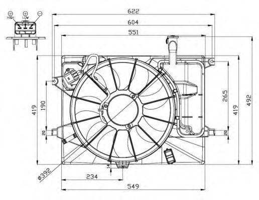 Вентилятор охлаждения двигателя NRF 47558