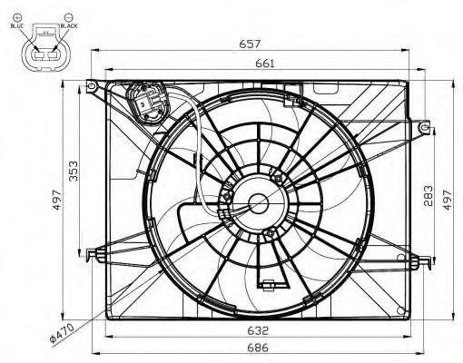 Вентилятор охлаждения двигателя NRF 47561