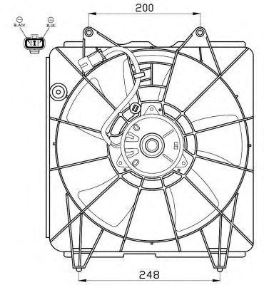 Вентилятор, охлаждение двигателя NRF 47562