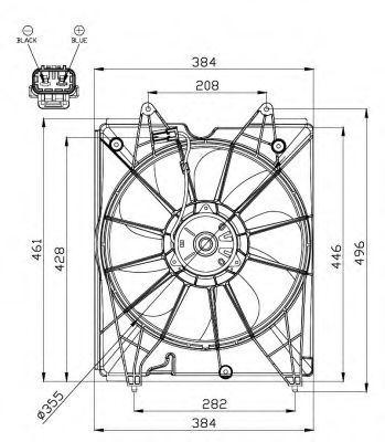 Вентилятор, охлаждение двигателя NRF 47563
