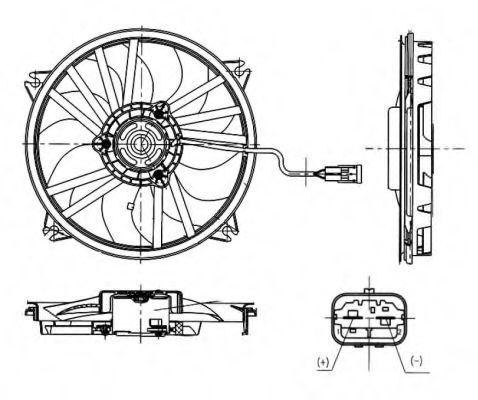 Вентилятор охлаждения двигателя NRF 47665