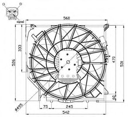 Вентилятор охлаждения двигателя NRF 47672