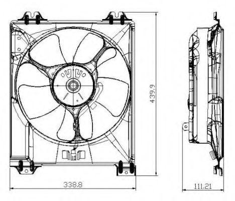 Вентилятор охлаждения двигателя NRF 47677