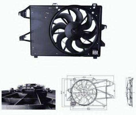 Вентилятор охлаждения двигателя NRF 47679
