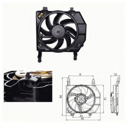 Вентилятор охлаждения двигателя NRF 47681
