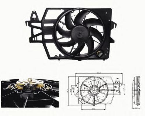 Вентилятор охлаждения двигателя NRF 47683