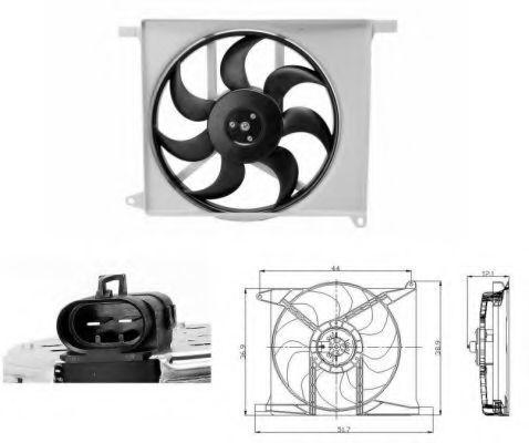 Вентилятор охлаждения двигателя NRF 47686