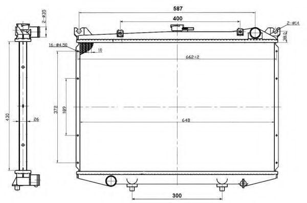 Радиатор охлаждения NRF 503492