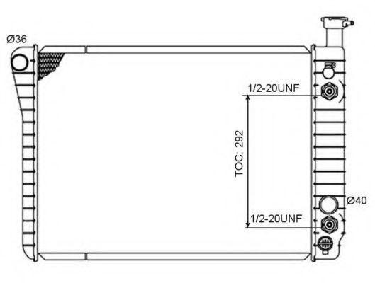 Радиатор, охлаждение двигателя NRF 50358