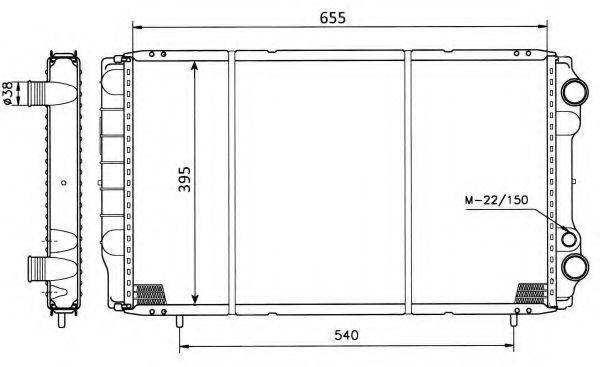Радиатор охлаждения NRF 50403
