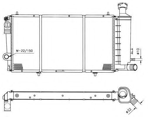 Радиатор охлаждения NRF 50406