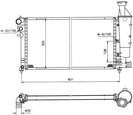 Радиатор охлаждения NRF 50421