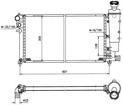Радиатор охлаждения NRF 50428