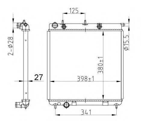 Радиатор охлаждения NRF 50429