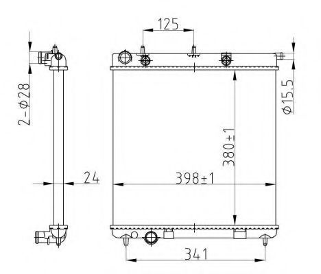 Радиатор охлаждения NRF 50429A