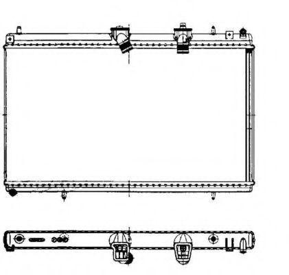 Радиатор охлаждения NRF 50442