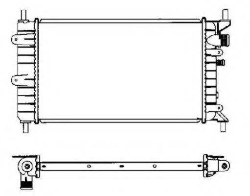 Радиатор охлаждения NRF 504437