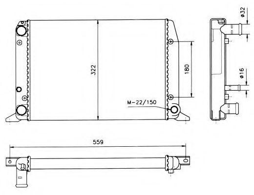 Радиатор охлаждения NRF 50514