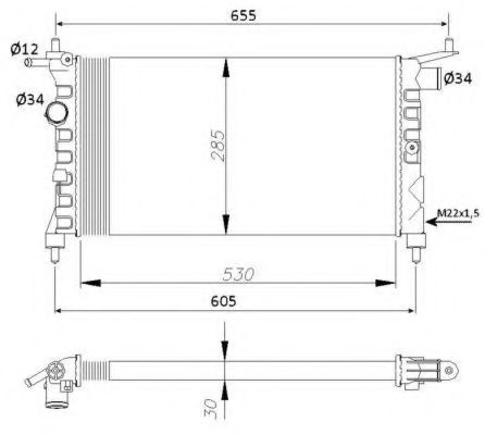 Радиатор охлаждения NRF 50551