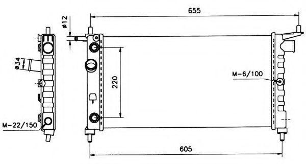 Радиатор охлаждения NRF 50552