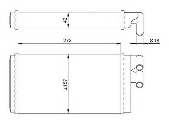 Радиатор отопителя салона NRF 50602