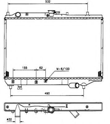 Радиатор охлаждения NRF 506521