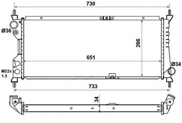 Радиатор охлаждения NRF 507522