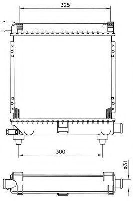 Радиатор охлаждения NRF 507662