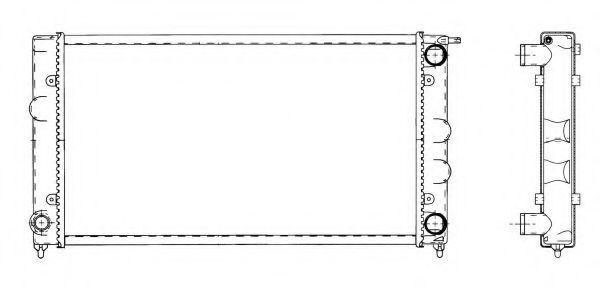 Купить Радиатор охлаждения NRF 509501