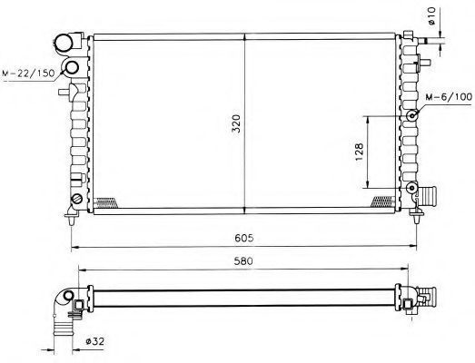 Радиатор охлаждения NRF 509502