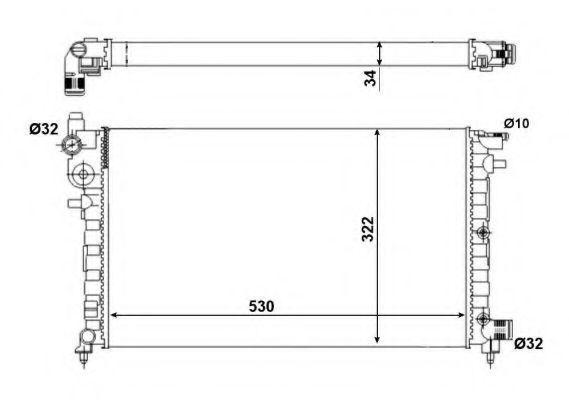 Радиатор охлаждения NRF 509502A