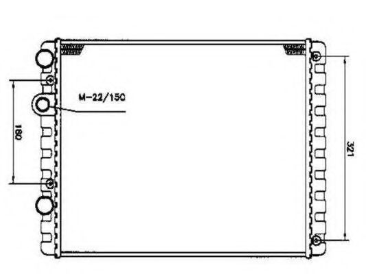 Купить Радиатор охлаждения NRF 509519