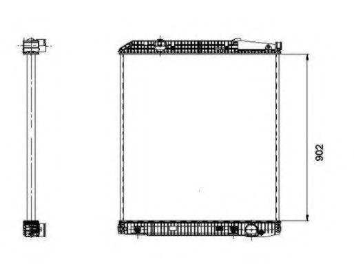 Радиатор охлаждения NRF 509576