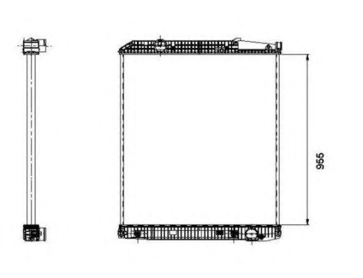 Радиатор охлаждения NRF 509577
