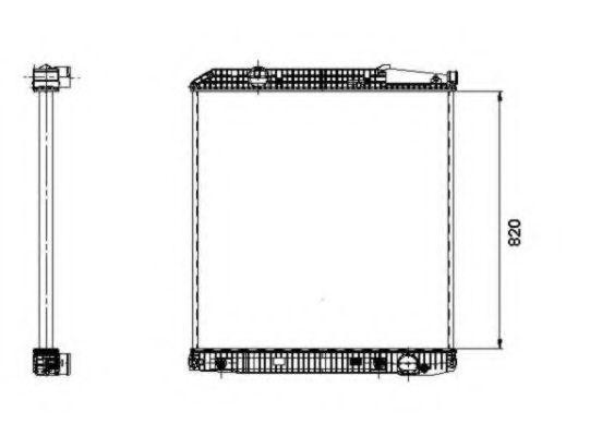 Радиатор охлаждения NRF 509579