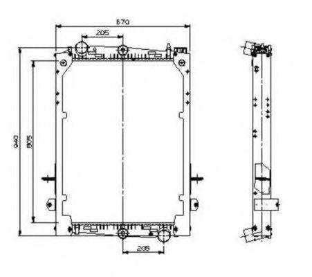 Радиатор охлаждения NRF 509585