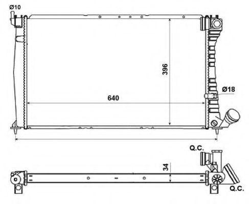 Радиатор охлаждения NRF 509601