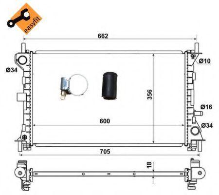 Радиатор NRF 509615