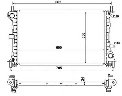 Радиатор NRF 509638