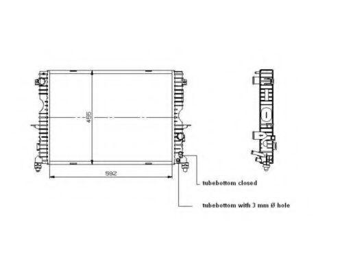 Радиатор охлаждения NRF 509729
