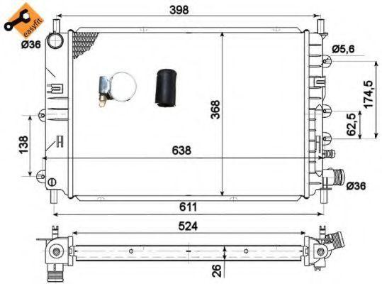 Радиатор охлаждения NRF 514436
