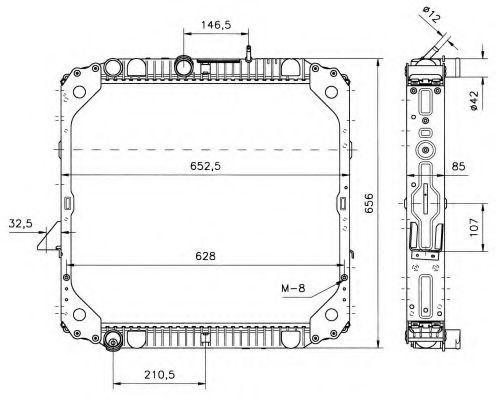 Радиатор охлаждения NRF 51570