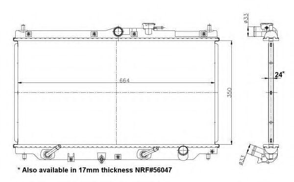 Радиатор охлаждения NRF 517722