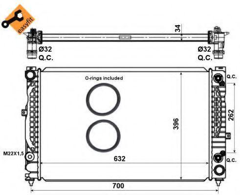 Радиатор охлаждения двигателя NRF 519504