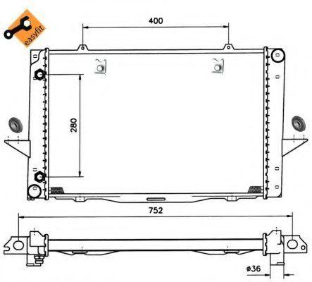 Радиатор охлаждения NRF 519509