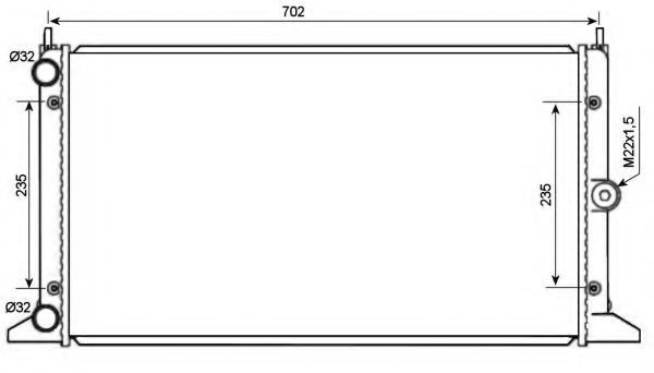 Радиатор охлаждения NRF 519522