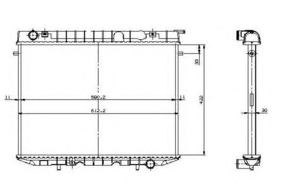 Радиатор охлаждения NRF 519532