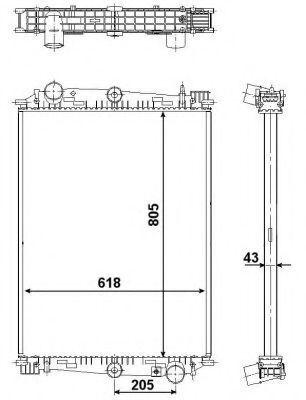 Радиатор охлаждения NRF 519585