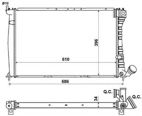 Радиатор охлаждения NRF 519602