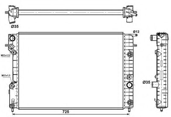 Радиатор NRF 519689